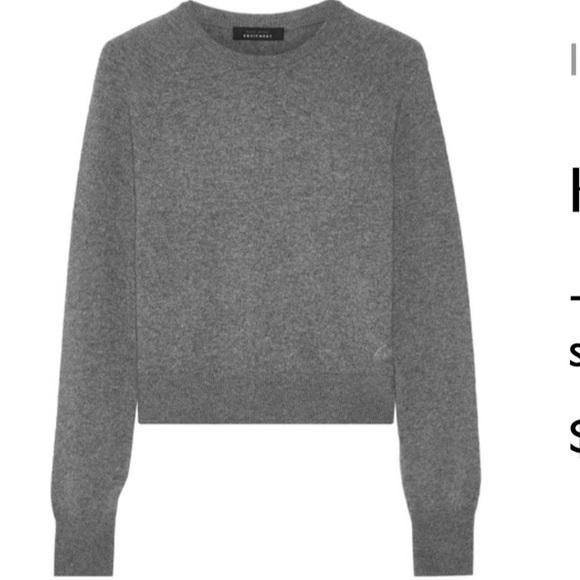 2a6215ad4de Equipment + Kate Moss Ryder Gray Cashmere Sweater